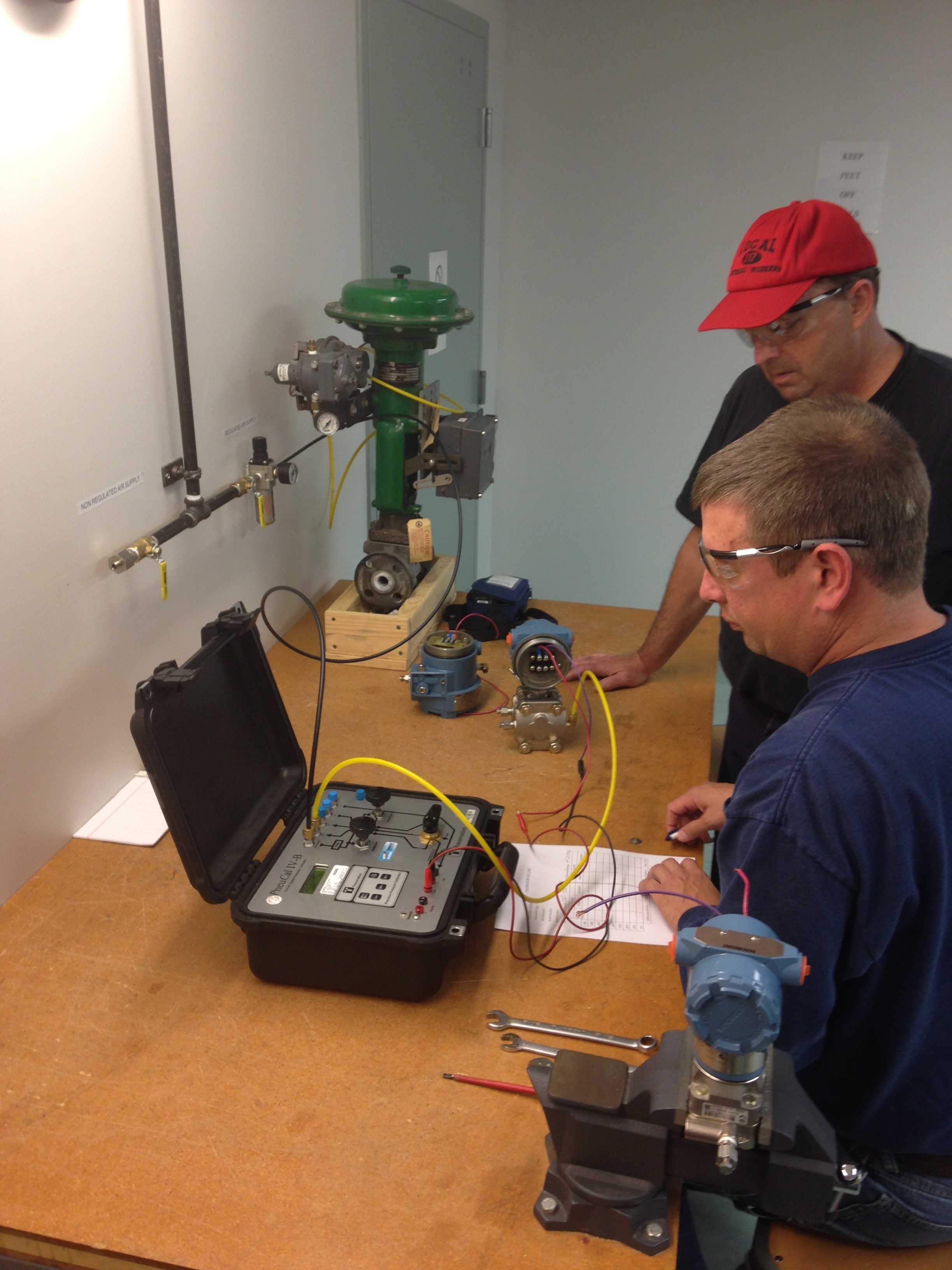 Electrical apprentices receiving training and instruction