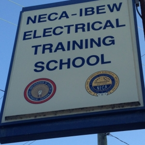 Sign outside of the NECA/IBEW Electrical Training School