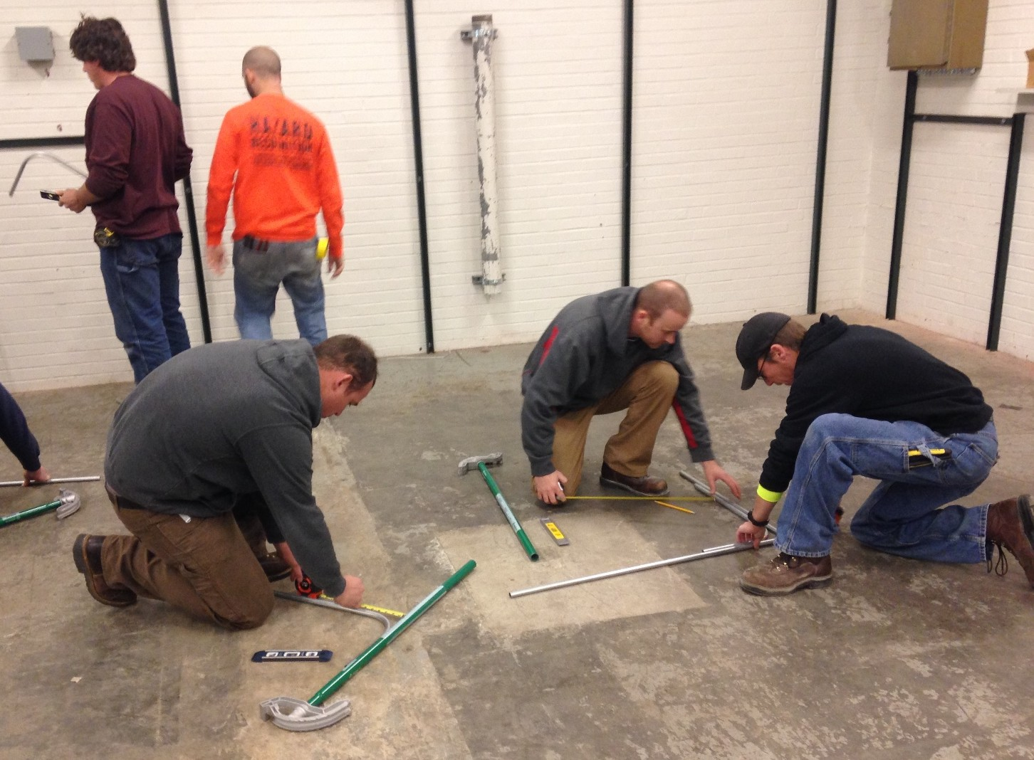 Apprentices receiving training at the NECA/IBEW Electrical JATC.