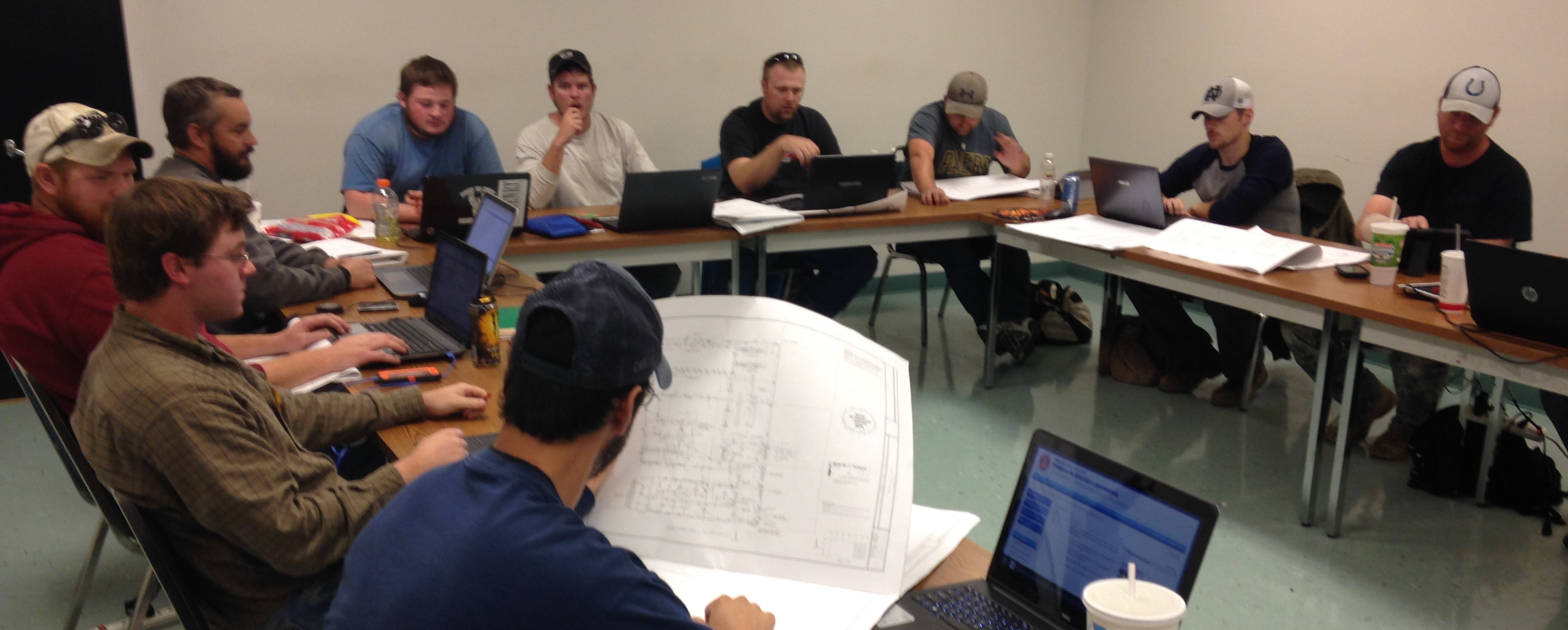 Students in the classroom at the NECA/IBEW Electrical JATC in Evansville, IN.